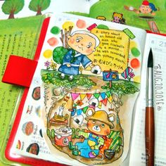 Studying japanese by reading short stories and then drawing my interpretation of…