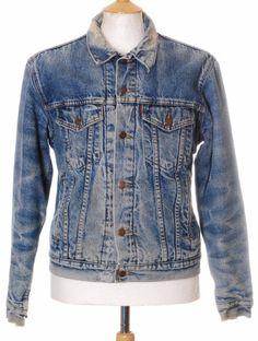 Vintage Blue Levi Strauss blanket lined denim trucker jacket - Medium #EasyPin