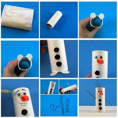 Olaf en rouleau de papier toilette