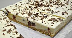 No Bake Cherry Ripe Cheesecake Slice from pinkpostitnote.com