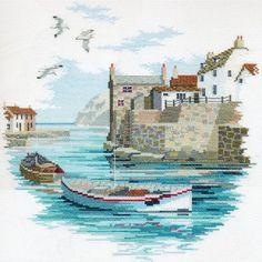 Derwentwater Designs Secluded Port Cross Stitch Kit |