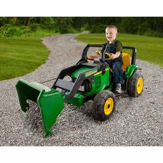 John Deere Power Loader 12-Volt Battery-Powered Ride-On: Bikes & Riding Toys : Walmart.com