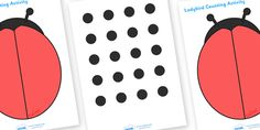 Twinkl Resources >> Ladybird Spot Counting Activity  >> Thousands of printable primary teaching resources for EYFS, KS1, KS2 and beyond! ladybird, math, maths, spots, dots, counting, counting on, counting back, counting card, counting activity, one to one counting, flashcard, matching card,