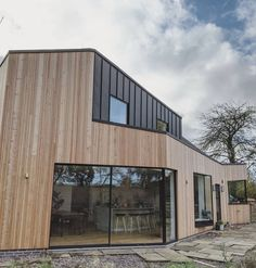 Fibre Cement Cladding, Composite Cladding, Larch Cladding, Exterior Cladding, Types Of Cladding, Cladding Ideas, Types Of Timber, Zinc Roof, Roof Extension