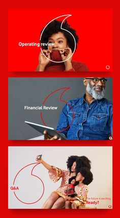 Love the usage of the logomark to bring energy and emphasis to the section divider slides in vodacom's interim results decks Ad Design, Identity Design, Visual Identity, Logo Design, Graphic Design Posters, Graphic Design Inspiration, Presentation Deck, Ads Creative, Print Layout