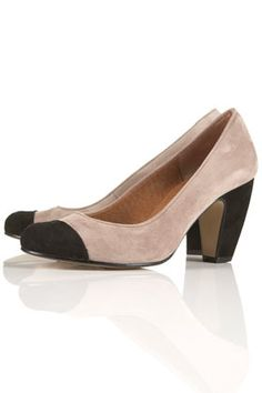JAMAICA Curve Heel Court Shoes - StyleSays