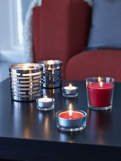 Last minute gifts under $10! Gift SINNLIG scented candles and VACKERT candle holders from IKEA to spruce up the season decor.