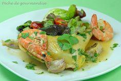Poulet aux crevettes, à l'ail et au piment d'Espelette