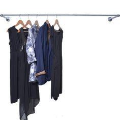 Railhang, vægophængt tøjstativ