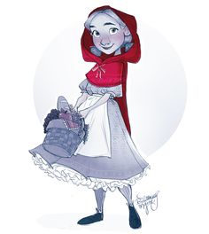 A little red riding hood sketch.