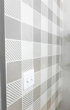 This post is sponsored by Stencil Revolution. All opinions are my own. What happened to the days of just wallpaper and paint? Those used to be our only options… Two Tone Walls, Cinder Block Walls, Unique Headboards, Cabinet Makeover, Stair Makeover, Live Edge Furniture, Faux Brick, Diy Mirror, Wooden Tables