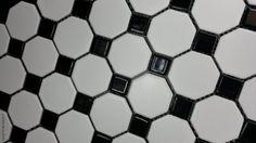 35zł szt MOZAIKA Octagonal 30X30 Biało Czarna New Design
