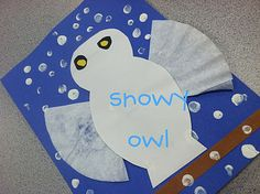 snow owl - A snow owl is nocturnal and creating a snowy white owl can cool off a hot summer day! Winter Crafts For Kids, Winter Fun, Preschool Winter, Winter Ideas, Winter Sports, Winter Season, Owl Crafts Preschool, Preschool Activities, Kid Activites