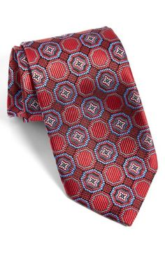 J.Z Richards Medallion Silk Tie