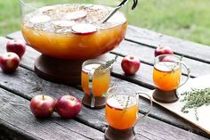 Elderflower Apple Cider Punch Recipe from The Good Drink and Pottery Barn Fun Drinks, Yummy Drinks, Healthy Drinks, Alcoholic Drinks, Beverages, Sangria Recipes, Punch Recipes, Cocktail Recipes, Drink Recipes