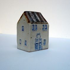 Ceramic House Miniature Ceramic House OOAK by BlueMagpieDesign, $57.75