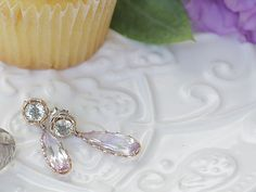 Tacori prasolite and rose amethyst  teardrop