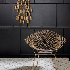 Bertoia Diamond Chair - Gold | For the Lounge Lovers | Holiday Gift Guide | Knoll