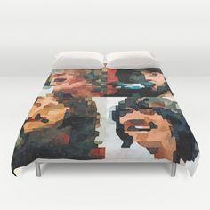 "SLEEP WITH THE BEATLES!  ""Let it Be"" watercolor painting Duvet Cover. Yeah! Yeah! Yeah!"