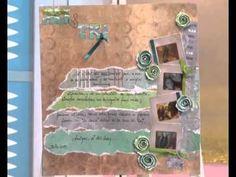 ▶ Scrapbooking - Carolina Ghelfi clase 1 en ManosalaobraTv - YouTube