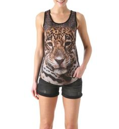Canotta motivo leopardo