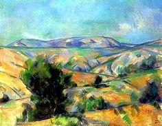Paul Cézanne la Montagne St Victoire vue de Gardanne
