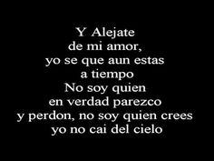 Camila - Alejate de mi ~Lyrics - Letra~ - YouTube