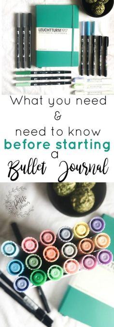 Bullet Journal Before You Get Started ⋆ The Petite Planner What you need and need to know before you get started on a bullet journal. What supplies are best, where to find inspiration, and more.