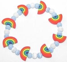 Polymer Clay- St Patricks Day Rainbow Bracelet