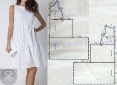 White dress pattern