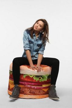 Urban Outfitters - Hamburger Bean Bag