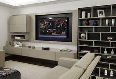 linea mobili mveis sob medida para home theaters e salas de tv