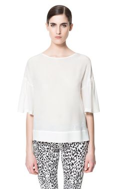 BOAT NECK TOP - Tops - Woman | ZARA United States