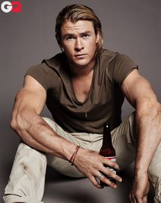 Chris Hemsworth. Could stare at those arms for hours if I didn't get distracted by his face.