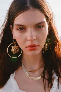 Awesome earrings -Vanessa Mooney Gold Ghostface Necklace