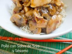 Pollo con Salsa de Soja y Sésamo (receta) / Soy and sesame sauce chicken recipe