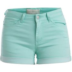 PIECES Just Jute Shorts (485 UYU) ❤ liked on Polyvore featuring shorts, bottoms, cabbage and fold over shorts