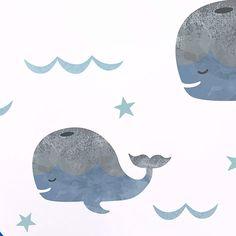 Wandsticker Bootstour mit Wal aus der Kategorie Babyausstattung von Mamarella - Details