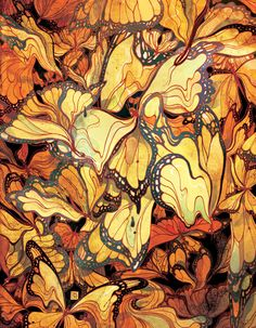 Victo Ngai's Butterfly Swarm for The NewYorker