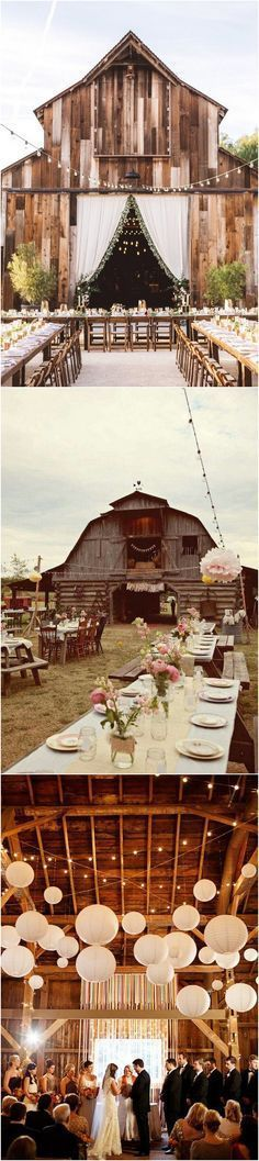 Country rustic barn wedding decoration ideas #countryweddingdecorations