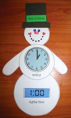Classroom Freebies: Telling Time Snowman Activities
