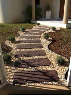 We all love a garden path, whether winding or straight. Neat as a pin or overgrown with plants, backyard garden paths lead our eye through a garden, and add charm and focus as well. However, building a walkway adds so… Continue Reading → Small Backyard Landscaping, Landscaping With Rocks, Landscaping Ideas, Mailbox Landscaping, Mulch Landscaping, Florida Landscaping, Backyard Ideas, Inexpensive Landscaping, Farmhouse Landscaping
