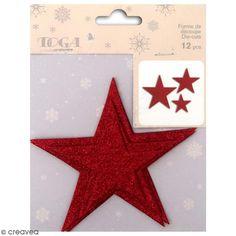 Compra nuestros productos a precios mini Die cuts Estrella El Oro de Bombay - Rojo con purpurina - 12 uds - Entrega rápida, gratuita a partir de 89 € !