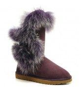 Jimmy Choo Fox Fur 5531 Ugg Boots - Purple $142.00 http://www.theonfoot.com