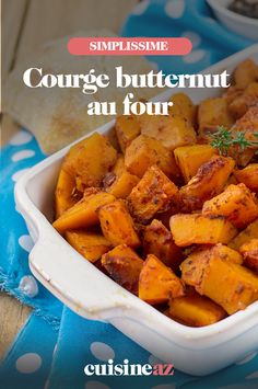 Courge butternut au four - fitness Rezept Health Dinner, Vegan Gluten Free, Sweet Potato, Four, Food Porn, Dinner Recipes, Food And Drink, Vegetarian, Healthy Recipes