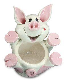 Loving this Pig Planter on #zulily! #zulilyfinds
