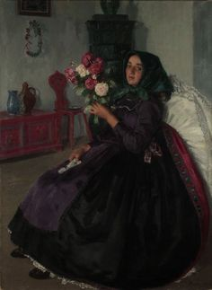 Bride with Flower Bouquet - Ferenc Paczka 1921