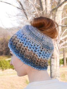 Premier® Crochet Ponytail Hat