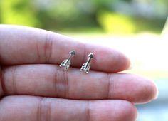 Tiny Arrow Stud Sterling Silver Earrings Love by JCoJewellery