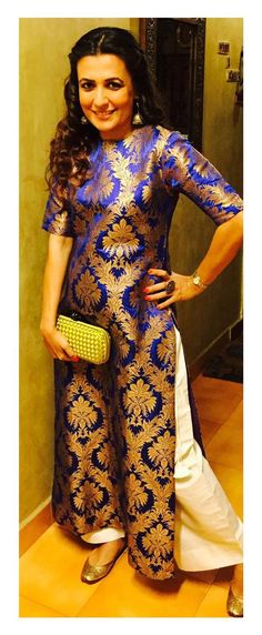 7 Ways To Recycle Old Brocade Saree – Fashion in India – Threads Brocade Saree, Brocade Dresses, Brocade Suits, Silk Brocade, Brocade Blouses, Pakistani Dresses, Indian Dresses, Indian Outfits, Indian Clothes
